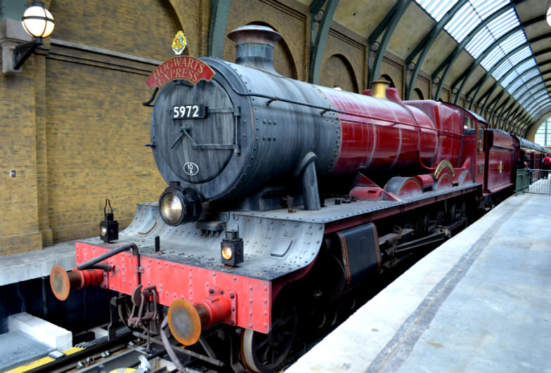 Hogwarts Express on Platform 9 ¾
