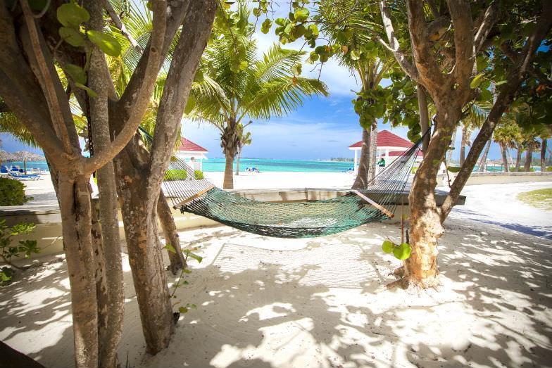 Beach scene at Breezes Resort
